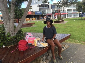 Flashingpacking Barbie Lunch Prep - Paihia