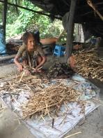 Bamboo Sticky Rice Lady