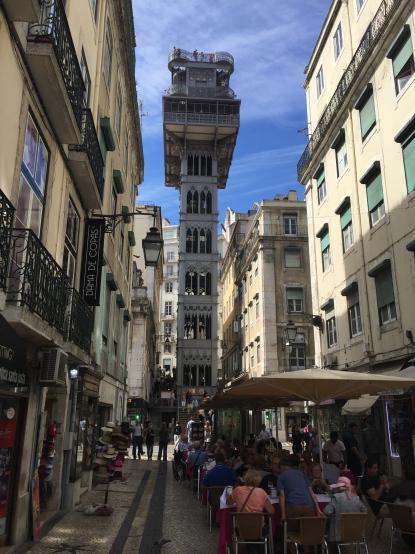 Lisbon City Elevator to Observation Deck