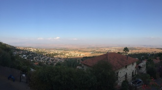 View of Rosh Pinna and Golan Heights