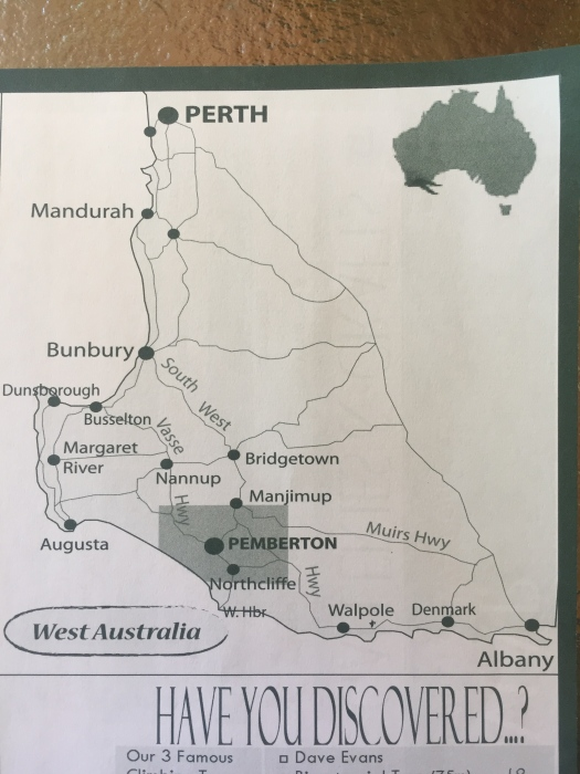 Map of Southwest Australia